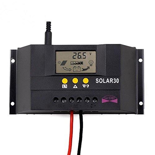 Sun YOBA LCD 30A 12/24V Solarregler Solarpanel Regler Solarladeregler Solar30