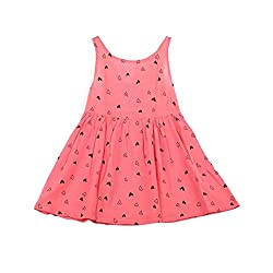 Girls Princess Dress, Transer® Baby Girls Sleeveless One Piece Dress 1-7 Years Kids Love Heart Print Bowknot Tutu Dress Toddlers Summer Swing Dresses
