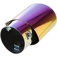 MagiDeal Universal Punta Silenciador de Cola Extractor Tubo de Escape Accesorios para Coche - Vistoso