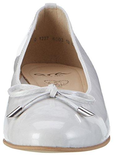 ara Bari, Damen Geschlossene Ballerinas Weiß (Offwhite)