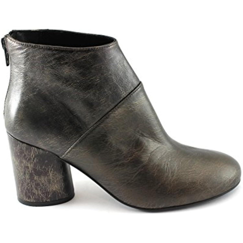 Sapena 32992 Chaussures Talon Métallique Zippée Bronze Bottes Femme en Cuir Zippée Métallique - B07739K2PQ - 0b7383