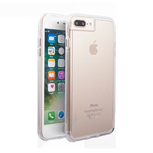 Mobiltelefonhülle - Roar für 5,5 Zoll iPhone 7 Plus Soft TPU Stoßstange + Hard PC Skin Kombi Fall ( Farbe : Transparent ) Transparent