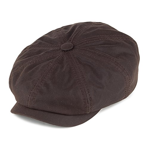 Village Hats Casquette Gavroche en Coton Ciré Hatteras Marron Stetson - Medium
