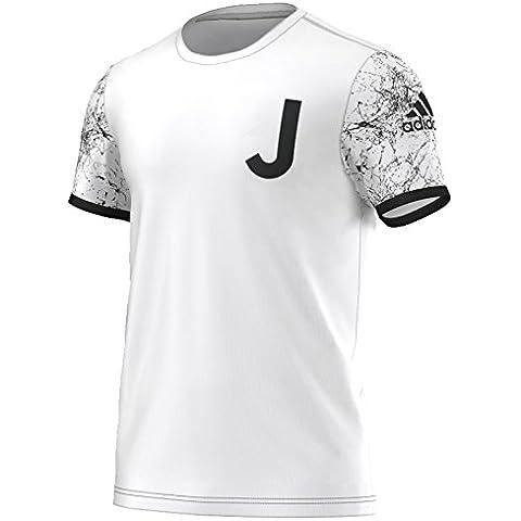 adidas Juventus St Tee - Camiseta de manga corta para hombre, color blanco / negro, talla XL