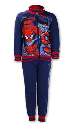 Offiziell lizenzierte Spiderman Printed mit Fleece-Futter Anzug Trackpant Alter 2 bis 8 (2 Spider Anzüge Man)