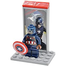 FIGURA CAPITAN AMERICA (CAPTAIN AMERICA) - CAPITAN AMERICA - CIVIL WAR - INSPIRADA EN LEGO MARVEL