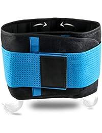 SGIN Rückenorthese, Lendenwirbelgurt für Männer und Frauen Dual verstellbare Gurte, Hilft bei Schmerzen im unteren Rückenbereich, Skoliose, Bandscheibenvorfall, Ischias - Blau