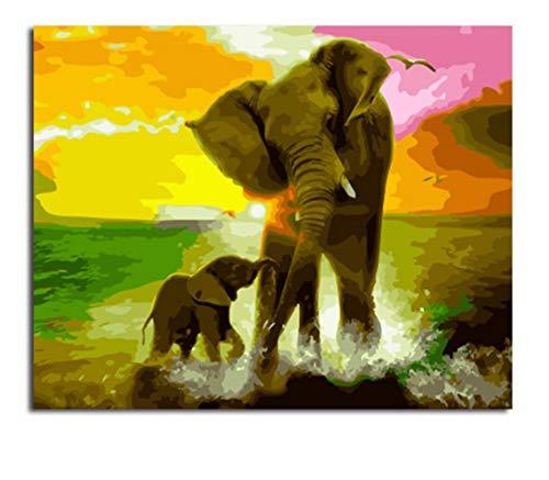 Puzzle 1000 Piezas De animales loely elefantes DIY rompecabezas de madera regalo...