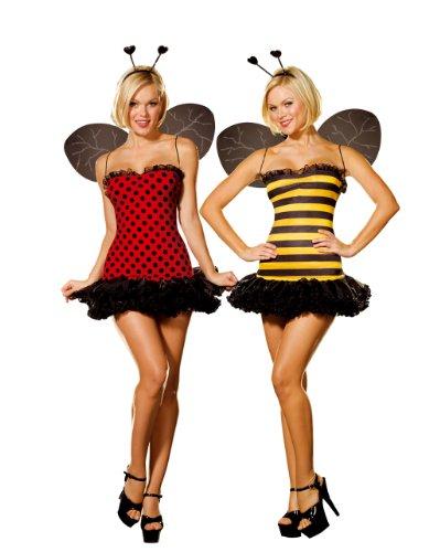 Cesar 5248L - Lady Bee-Lady Bug Wendekostüm Größe 42- - Damen Sexy Marienkäfer Kostüm