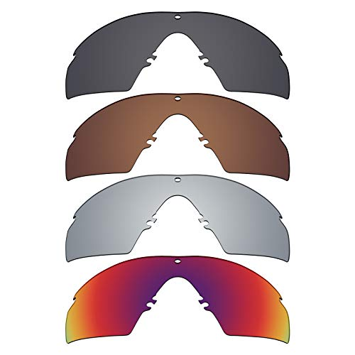 Mryok polarisierte Ersatzgläser für Oakley Industrial M Frame 3.0 Sonnenbrille - Stealth Black/Bronze Brown/Silver Titanium/Midnight Sun