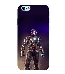 Printtech Iphone 6 / 6S Cover, Original Slim Flexible Shockproof Iron Suit Tesla Core Back Case Cover