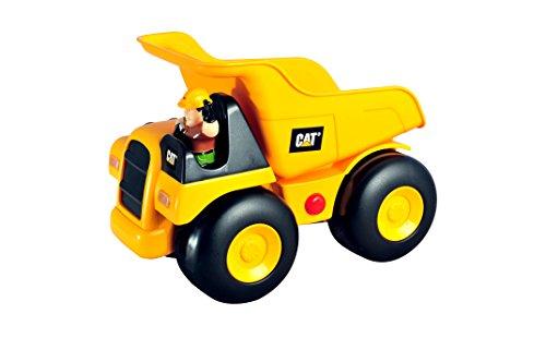 Partner Jouet - HKT80171 - Jeu éducatif Premier âge - Pousse et Traîne - Camion Benne Sonore Cat