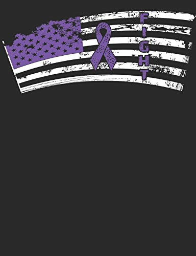db67ae41acc0 Fight: Purple Ribbon Flag Notebook 100 Pages Lined Paper