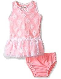 Kensie Baby Girls' Knit Daisy Tulle Dot Dress