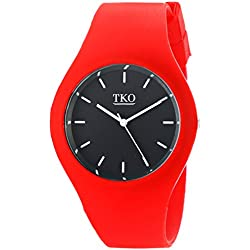 TKO Women's Sports Rubber Band Fun Red Ice Watch TK643RD