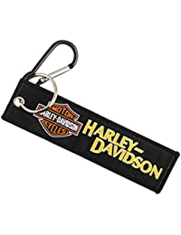 Techpro Premium Quality Cloth Locking Keychain With Doublesided Harley Davidson Design