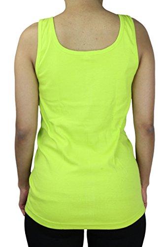 2er Pack Damen Unterhemd / Nachthemd / Sommer Top mit Spitze | Größe: 40-58 Lime