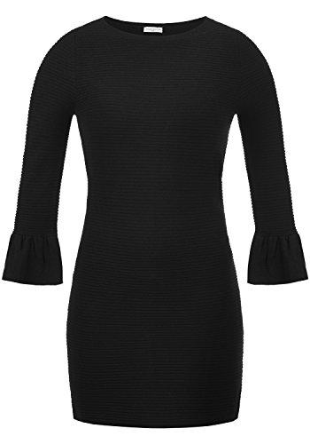JACQUELINE de YONG by ONLY Rike Damen Kleid Langarmkleid mit Rundhals-Ausschnitt und Volant-Ärmeln aus hochwertiger Materialqualität, Größe:S,...