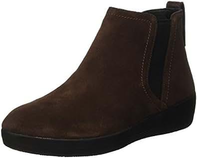 FitFlop Superchelsea TM Boot, Baskets Hautes Femme, Marron-Marrone (Chocolate), 40 EU