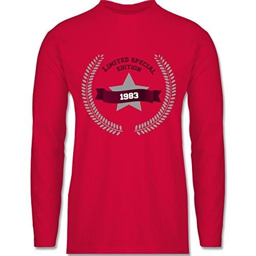 Geburtstag - 1983 Limited Special Edition - Longsleeve / langärmeliges T-Shirt für Herren Rot
