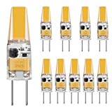 TINS 10 X G4 3W Lampadina a LED, Lampada a Doppio ago da 250LM a LED, 250 Lumen G4 LED 4500K AC/DC 12V,Non Dimmerabile, CRI: RA> 80,Lampadina LED (Bianco naturale),Confezione da 10