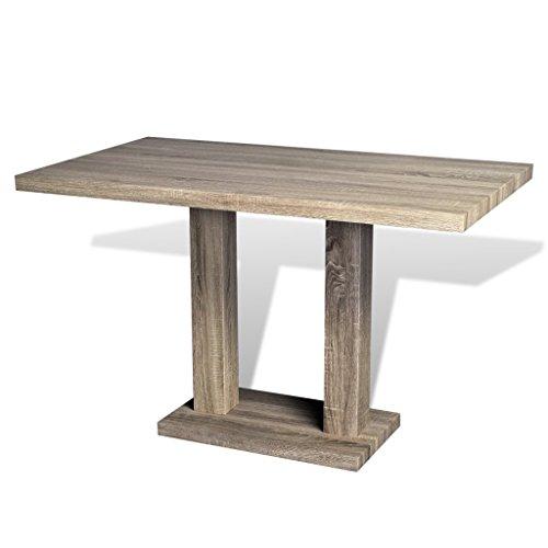 Festnight tavolo da pranzo con aspetto in legno di quercia for Amazon tavoli