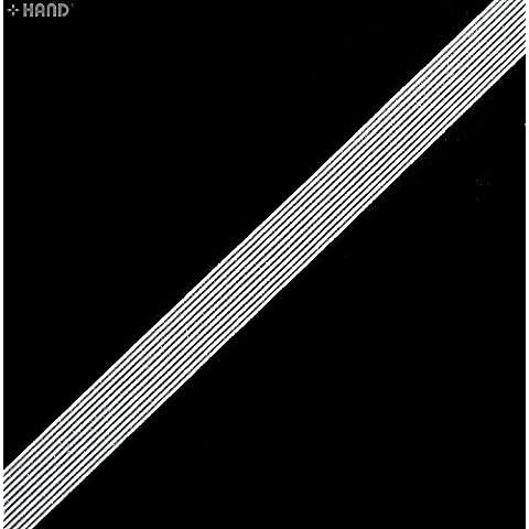 A685 / 12 Off White Stripy delicato sottile piatto Biancheria intima Smooth elastici - 12mmW - 10 metri