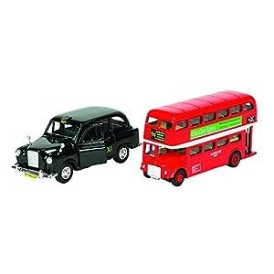 Goki 12213 - Fahrzeug - London Bus und Taxi aus Spritzguss - Producto