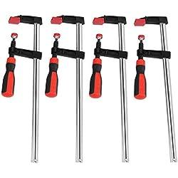 Serre-Joints à Vis de Bois, 50 * 300mm 4 Pièces Lourd Devoir F Pinces à Bois Glissière Rapide Outils à Main Bricolage Kit