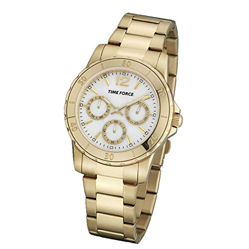 Time Force Reloj Analógico para Mujer de Cuarzo con Correa en Acero Inoxidable TF4191L09M