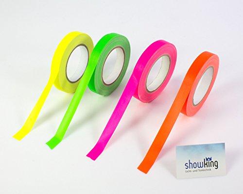 Gaffa Tape neonpink uv-aktiv, 19mm x 25m, wasserabweisend - Gewebeklebeband / Gaffer Klebeband - showking