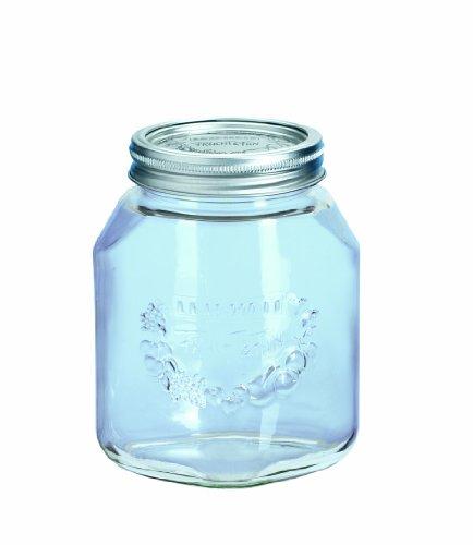 Leifheit 36305 Einkochglas 6 Stück, 1 Liter