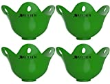 Egg Poacher Cups (4 pack) For Cooking Poached Eggs - Sale Now On! LFGB Grade Silicone Egg Poacher, Poached Egg Pods, Egg Poacher Pan, Egg Cooker, Poached Egg Maker, Microwave Egg Poacher, Egg Boiler, Egg Cups, Microwave Eggs, Poaching Pan