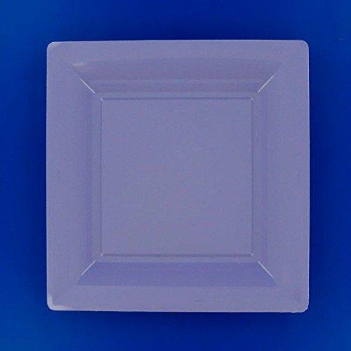 Ma Vaisselle Jetable - Assiette Carree Couleur Lilas Diametre 290