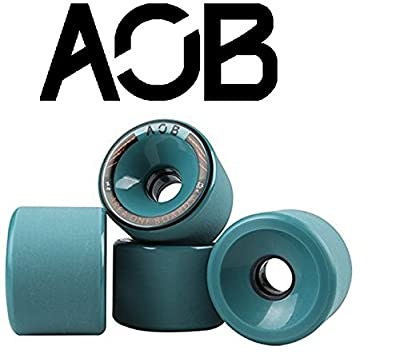 AOB Longboard Rollen (4 Stck) offset 74x52 mm/78A (blau)
