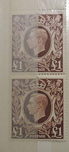 Great Britain George VI 1939-1948 High Values £1 value unmounted mint (scan shows 2, you will only receive 1, unless you order 2 GB definitives arms JandRStamps