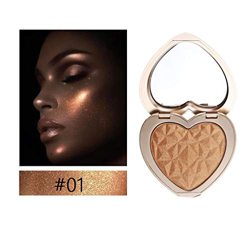 Gaddrt Herzform schimmern gepresstes Gesicht Textmarker Pulver Aufhellung Makeup Power Markieren Sie...