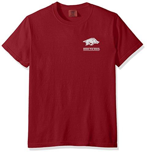 New World Graphics NCAA Arkansas Razorbacks Erwachsenen-T-Shirt, kurzärmelig, Cc Chili