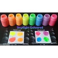 cglowz día Neon UV reactiva fluorescente brilla en la oscuridad pintura–30ml 30 ml azul