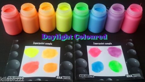 cglowz Tag Neon UV Reactive fluoreszierende Glow in the Dark Lack-60ml rot