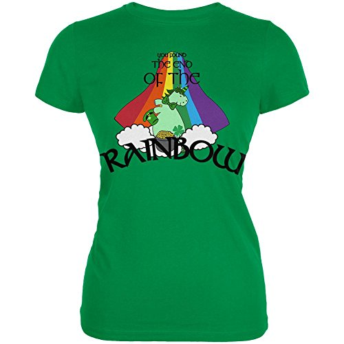 Patricks Day Irish T-shirts (Old Glory St. Patrick ES Day Unicorn Ende der Rainbow Irish Juniors Soft T-Shirt Irish Green LG)