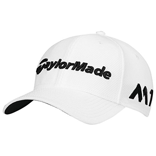 taylormade-2017-new-era-tour-authentic-39thirty-stretch-hat-structured-mens-golf-cap-white-medium-la