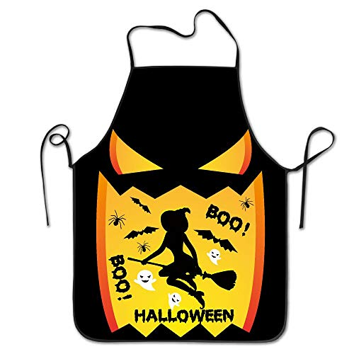 Mabell Witches Lovely Vintage Sally Halloween Boo Fashion Women Bib Kitchen Apron Polyester Art Printing