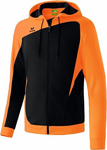 erima Erwachsene Jacke Club 1900 Trainingsjacke mit Kapuze Schwarz/Neon Orange