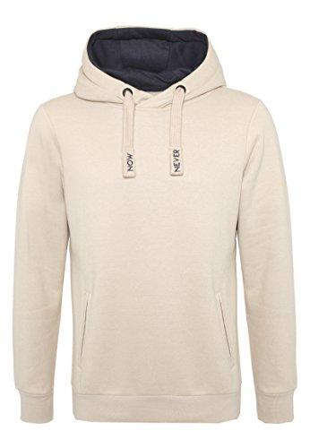 SUBLEVEL Herren Sweat-Hoodie mit Kontrast Kapuze | Bequemer Kapuzenpullover im Casual Style light-beige