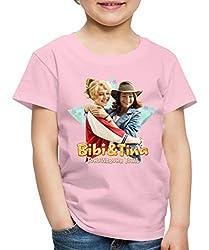 Bibi Und TinaTohuwabohu Total Freundinnen Kinder Premium T-Shirt, 122/128 (6 Jahre), Hellrosa