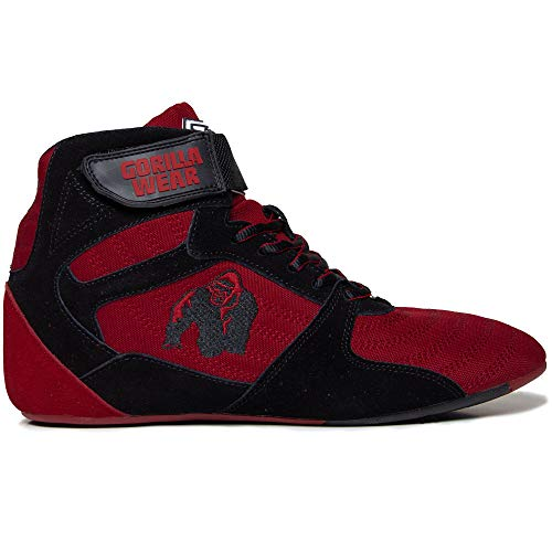 Gorilla Wear Fitness Schuhe Herren - Perry High Tops - Bodybuilding Gym Sportschuhe Rot 44 EU