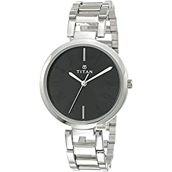 Titan Youth Analog Black Dial Women's Watch