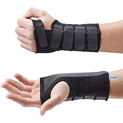 Actesso Stomatex Handgelenkschiene Karpaltunnel Schiene Handgelenkstütze. Ideal für Schmerzlinderung. Karpaltunnelsyndrom, Verstauchungen und Arthritis - Medizinisch bewährt (Mittelgröß, Rechts)
