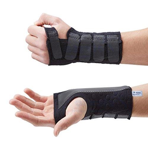 Steccobenda per polso Stomatex nera Actesso (Piccola, destra)- Ideale per alleviare il dolore associato alla sindrome del tunnel carpale, slogature o artrite. Approvata per uso medico
